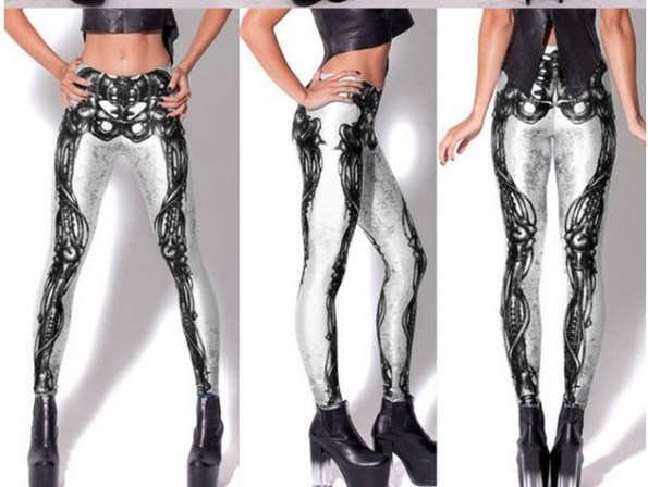 Black-2013-Women-Sexy-vintage-Egypt-Pharaoh-King-Tut-Cheshire-Cat-Mechanical-Bones-White-Black-Aurora-Skye