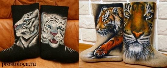 валенки с тиграми