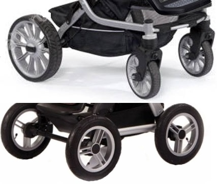 коляска с монолитными колесами