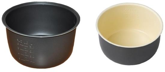 чаша с керамическим или тефлоновым покрытием