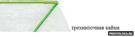 трехниточная кайма