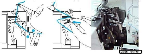 устройство облегчающее заправку нижнего петлителя