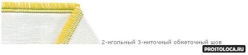 2-игольный 3-ниточный шов