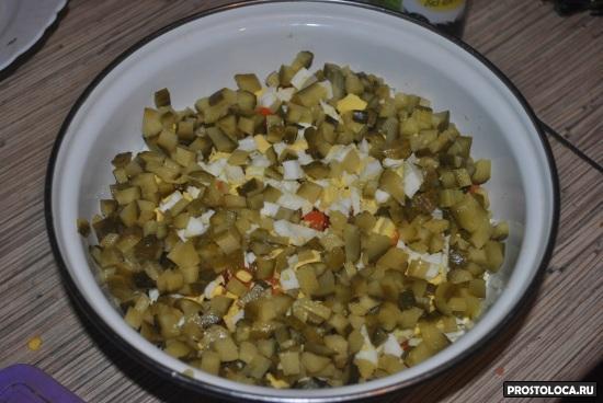 салат оливье по-советски