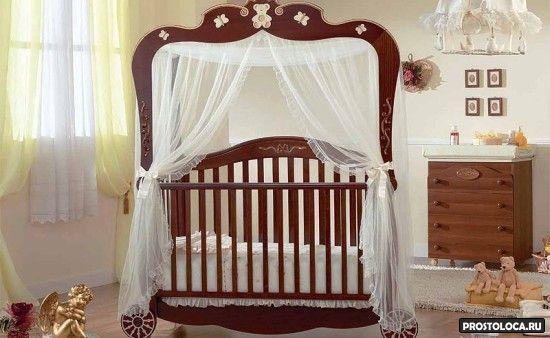 кроватка с пологом