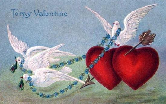 старинная валентинка