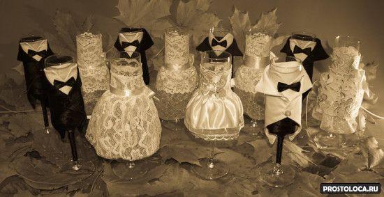 необычные свадебные бокалы