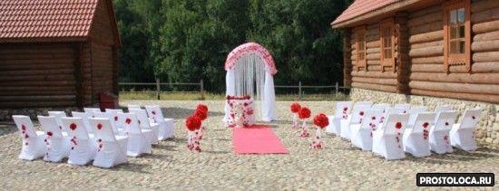 оформление свадебного зала в красном цвете 5