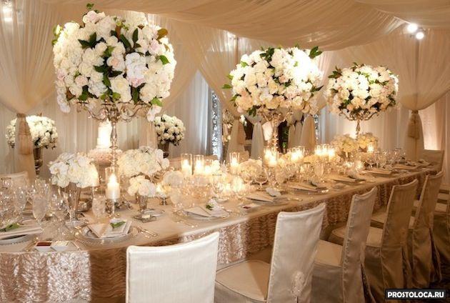 Оформление свадебное цветами