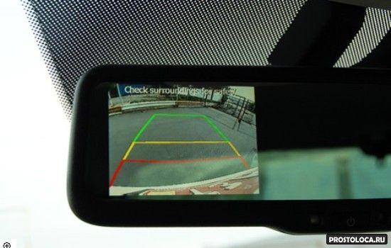 парктроник с камерой заднего вида в зеркале