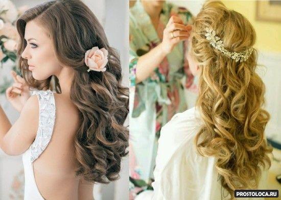 свадебные прически на длинные волосы 4