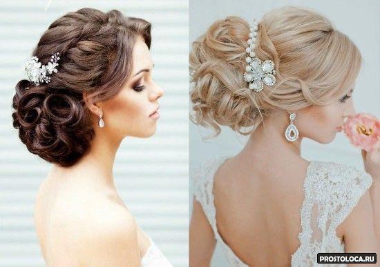 свадебные прически на длинные волосы 7