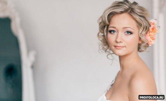 свадебные прически на короткие волосы 10