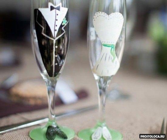 смешные свадебные бокалы 2