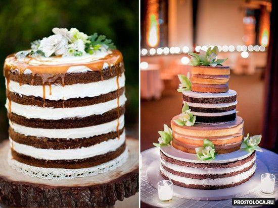 свадебный торт без мастики фото