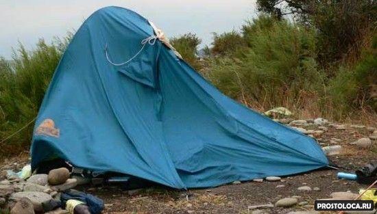 парусность палатки