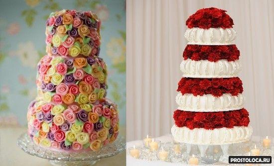 роскошный свадебный торт фото 2