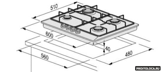 как установить варочную панель в столешницу