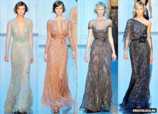 красивые шифоновые платья 2015