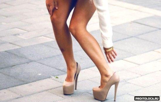 невеста на высоченных каблуках