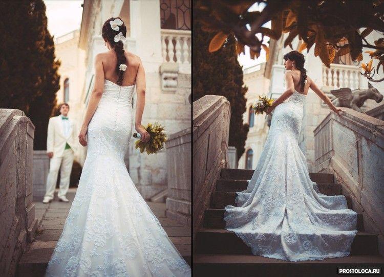 как подколоть длинный свадебный шлейф фото