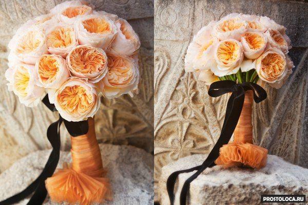 роскошный свадебный букет