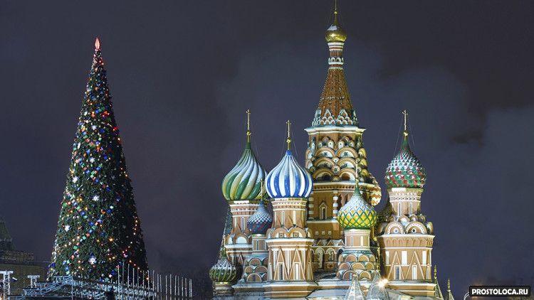новогодняя ель москвы