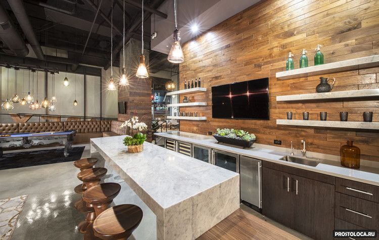 кухня в стиле лофт 25
