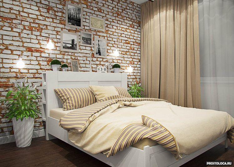 спальня в стиле лофт 16