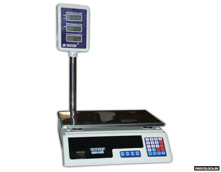 электронные весы со стойкой