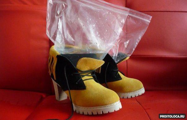 как разносить туфли