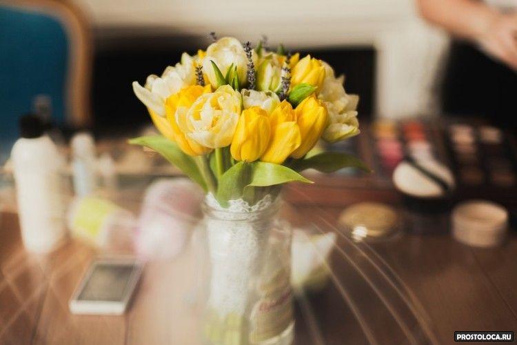 желтый свадебный букет 5