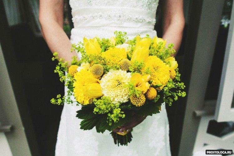 желтый свадебный букет 8
