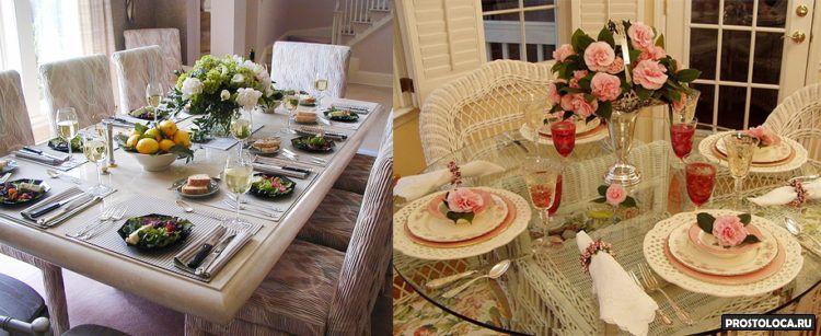 домашняя сервировка стола 17