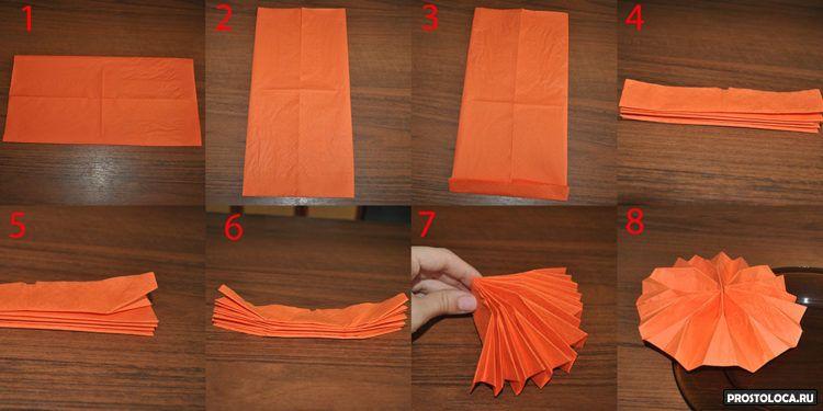 как свернуть бумажную салфетку 2