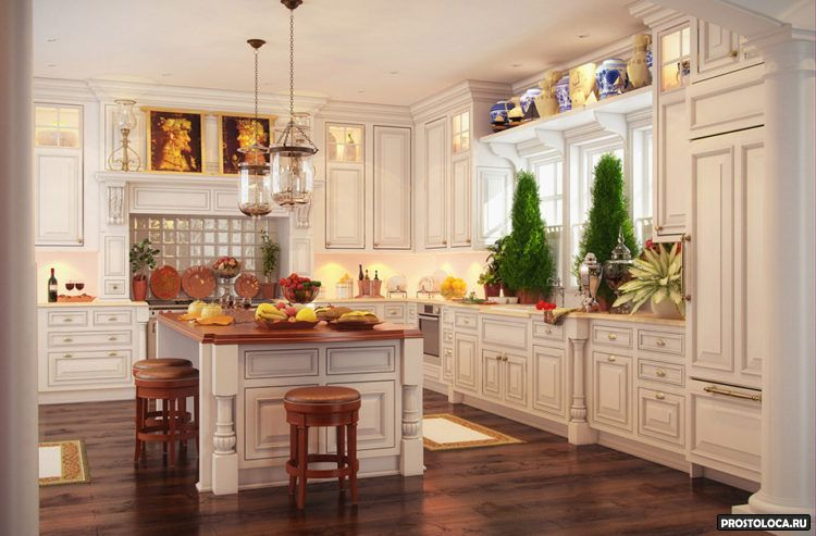 кухня в классическом стиле 14