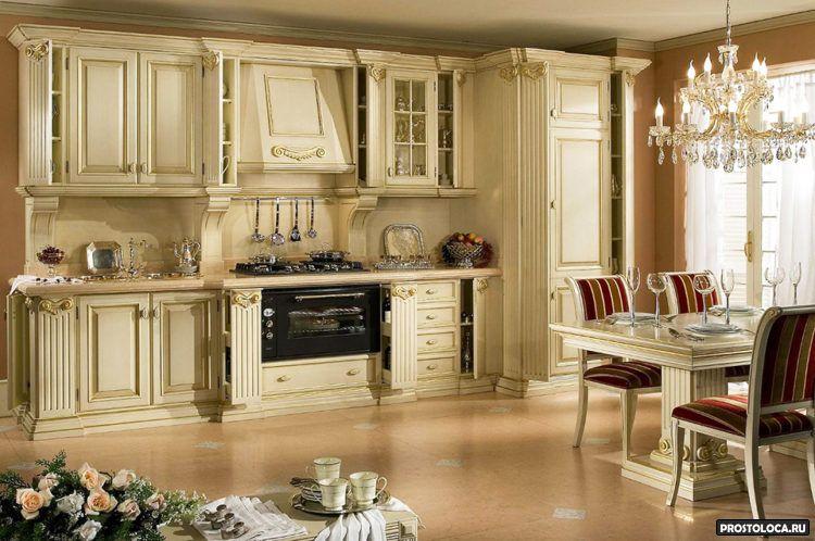 кухня в классическом стиле 8