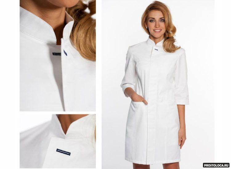 Вбелых медицинских прозрачных штанах фото 358-733