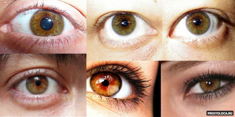 ореховые глаза