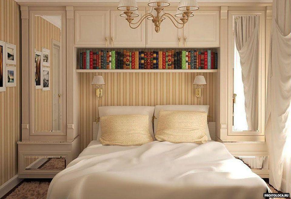 Дизайн интерьера маленькой спальни 150 фото