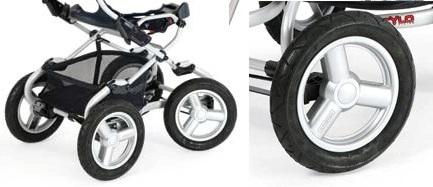 коляска с большими поворотными колесами