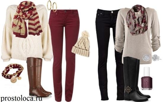 сапоги для верховой езды и джинсы