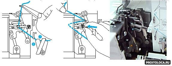 Как заменить иглу в оверлоке фото