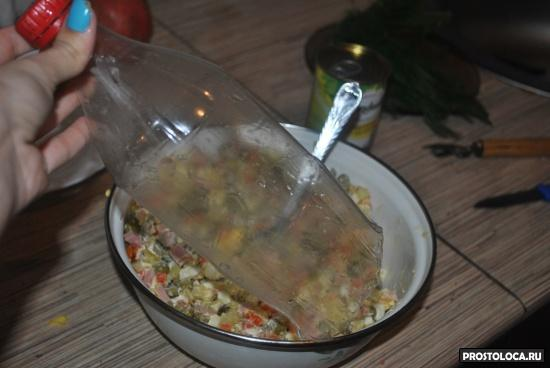 салат оливье в форме ёлки