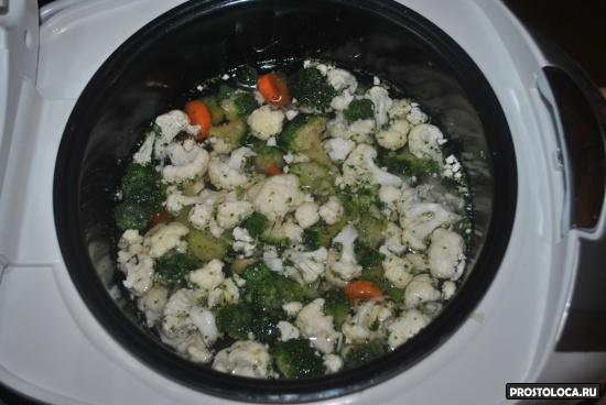 овощной крем суп в мультиварке