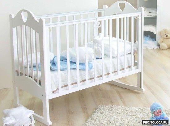 белая кровать качалка 2