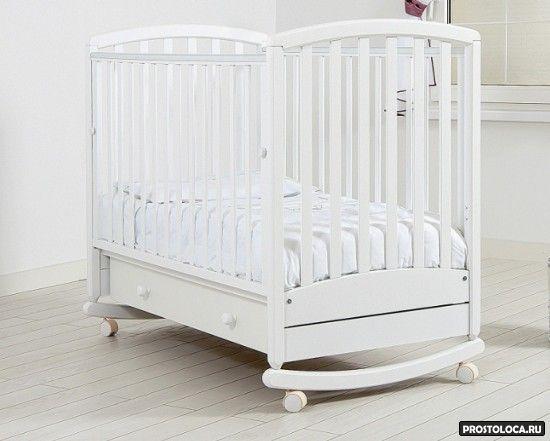белая кровать качалка