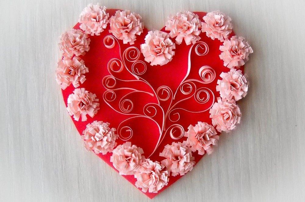 Необычные валентинки из бумаги своими руками