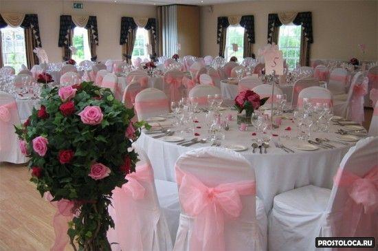 оформление свадебного зала в розовом цвете 4