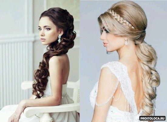 свадебные прически на длинные волосы 2